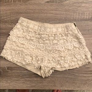 Pants - Zara white lace shorts